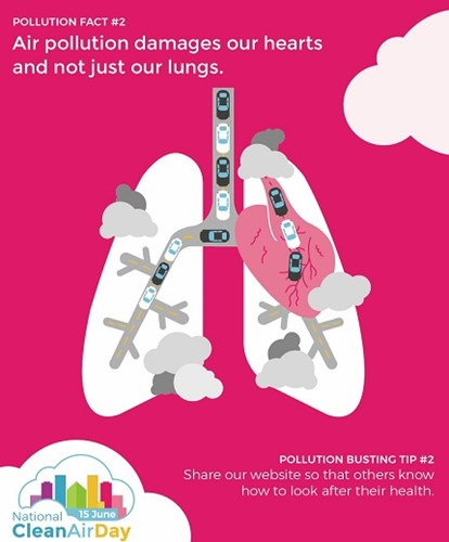 An awareness raising poster from Clean Air Day, held on 15 June